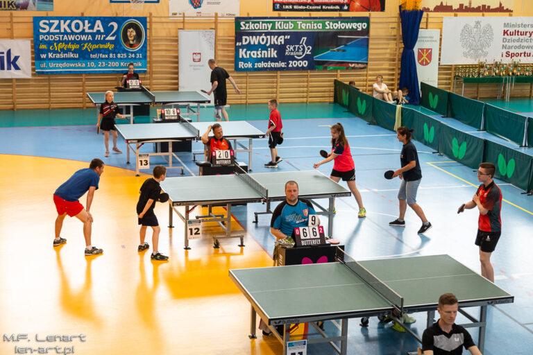 W Kraśniku rywalizowano w V Ogólnopolskim Rodzinnym Festiwalu Tenisa Stołowego o Puchar Ministra Sportu
